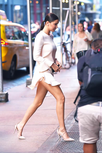 Bella Hadid 2015 long legs
