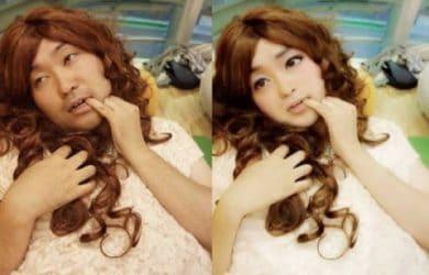 Man photoshopped into woman