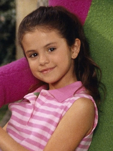 Selena Gomez in 2002 appearing on a kids TV show