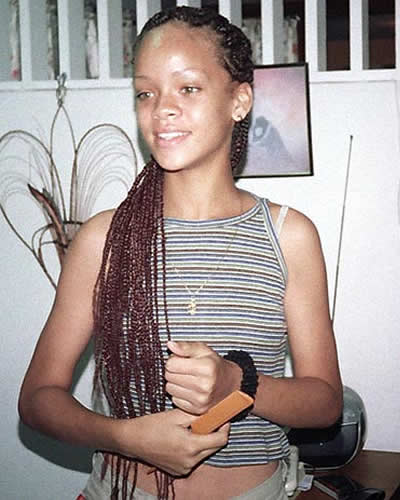 Rihanna in her teenage years