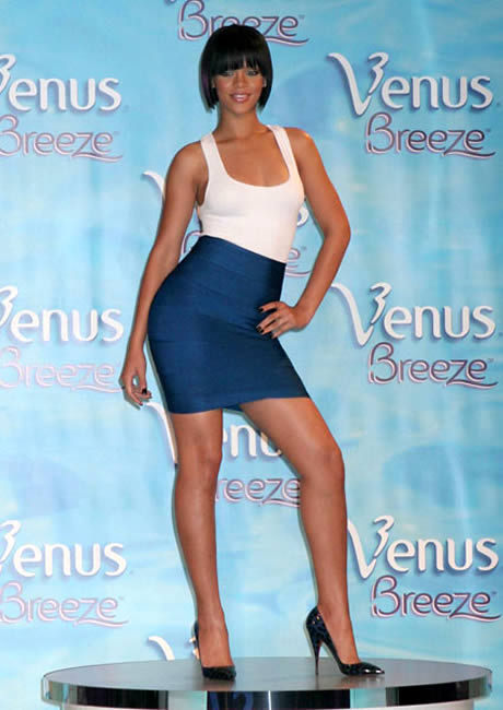 Rihanna 2007 - She won the celebrity leg of goddess!