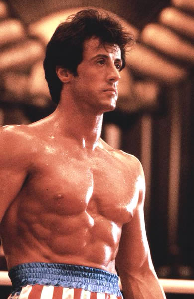Sylvester Stallone 1976 - In the movie, Rocky.