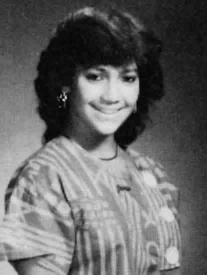 Young Jennifer Lopez in her high school years
