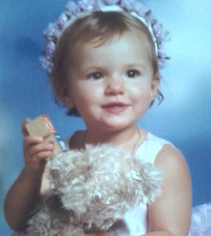 A picture of Bella Thorne as a baby.