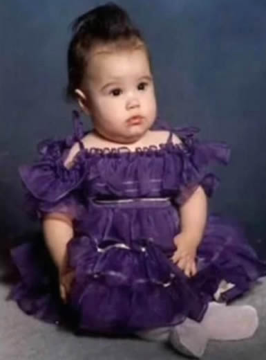 Demi Lovato when she was a baby