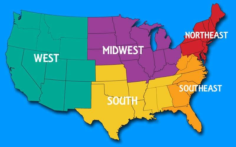 United States Of America Regions