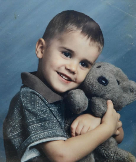 Young Justin Bieber when he was 5 years old