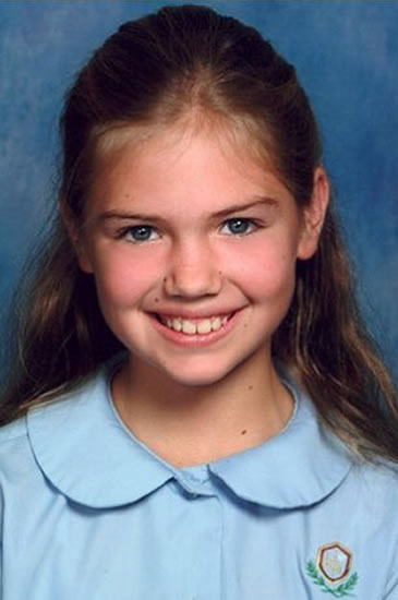 Young Kate Upton as a child