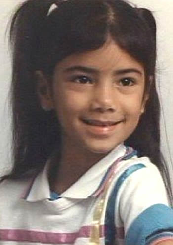 Young Nicole Scherzinger as a child