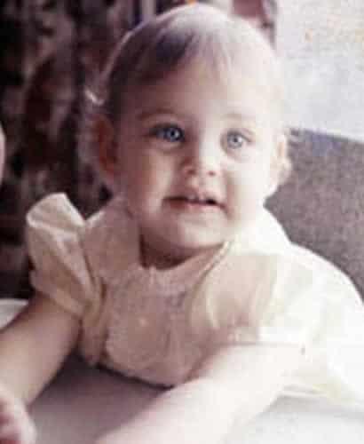 Ellen DeGeneres as a baby