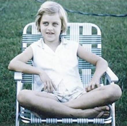 Young Ellen DeGeneres during childhood