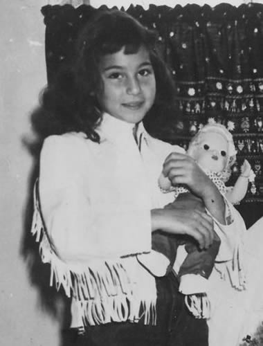 Young Cher during her childhood