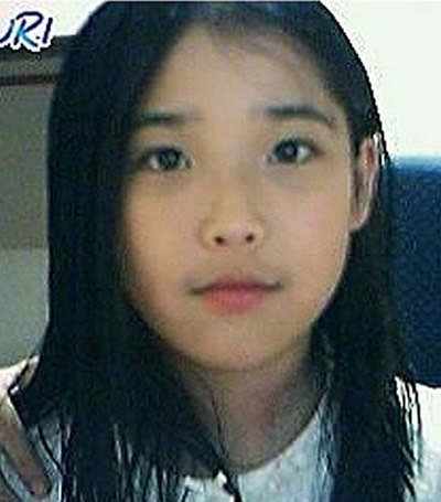 Korean singer IU during her school years