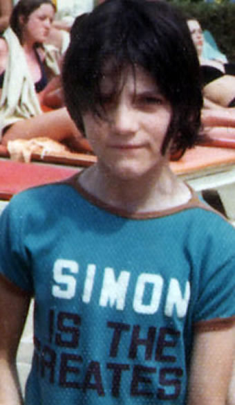 Simon Cowell in his teenager days