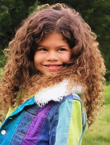 Zendaya as a child