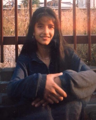 Katrina Kaif as a teenager