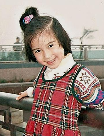 Angelababy during her childhood