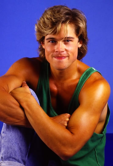 Brad Pitt in 1987