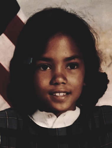 Young Halle Berry during her childhood