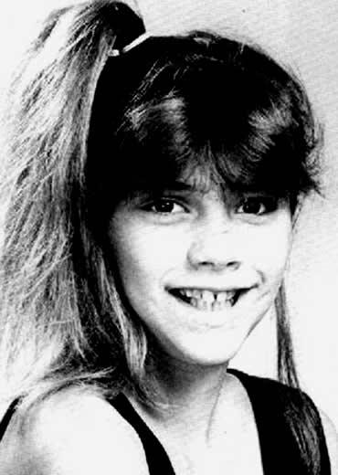 Victoria Beckham childhood photo